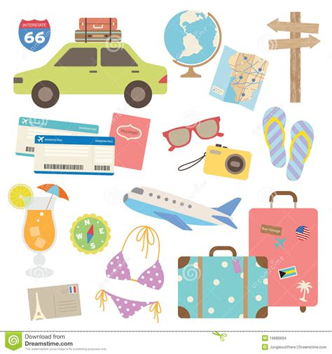Elements Of My Vacation by Travel Design Elements Stock Vector Image Of Airplane