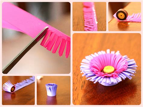 How To Make Quilling Paper - diy quilling fringed flower tutorial step by step step