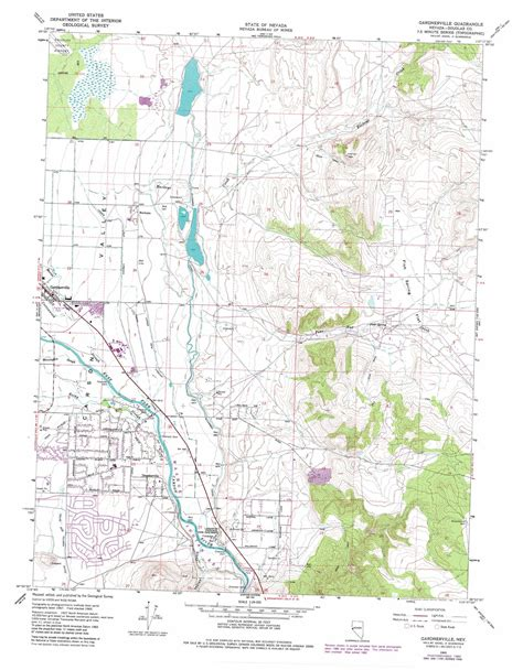 printable nevada road map gardnerville topographic map nv usgs topo quad 38119h6