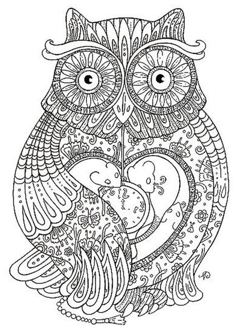 intricate owl coloring pages free intricate elephant coloring pages