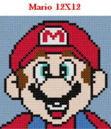 Pick 1 Mario Friends 12x12 Latch Hook Kits Message Me With Choice Free S H Perler And Latch Hook Design Templates