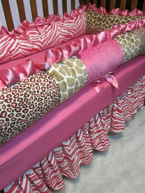 Animal Print Crib Bedding Set Baby Bedding Pink And Brown Animal Print Crib Set By Ziggetyzag