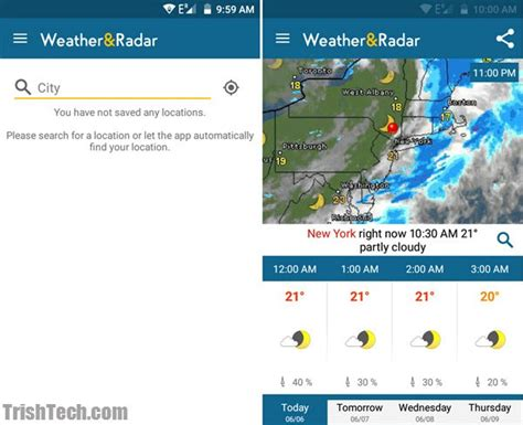 weather radar apps for android weather radar app for android shows weather alerts