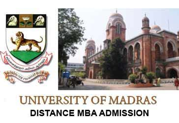 Madras Distance Education Mba Admission 2017 by Madras Distance Mba Admission Fee Prospectus 2017