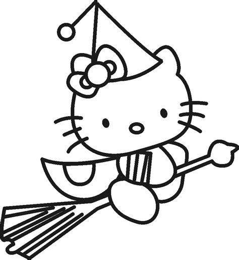 hello kitty witch coloring pages halloween hello kitty witch coloring pages coloringsuite com