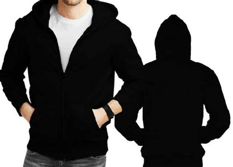 Sweater Hitam sweater hoodie hitam polos zipper