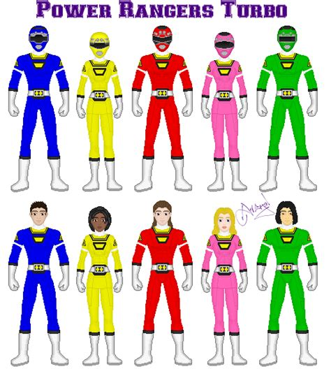 power ranger names and colors power rangers turbo by ameyal on deviantart