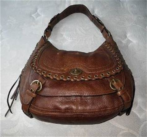 Rur20225 Tas Fashion Import Tote Lv Brown coach vintage tobacco brown lg lace flap leather satchel hobo purse bag ebay