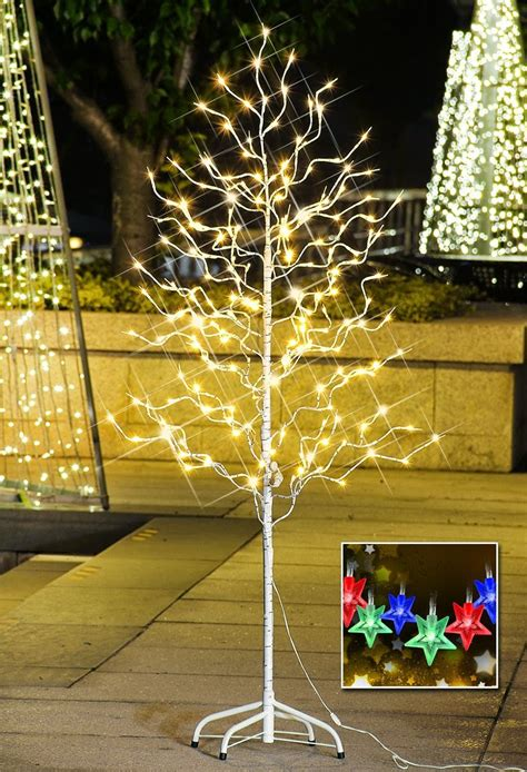 Outdoor Twinkling Lights Are Led Tree Lights Safer Catchy Collections Of Candles For Trees 100
