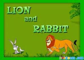 the lion and the rabbit short story for kids children