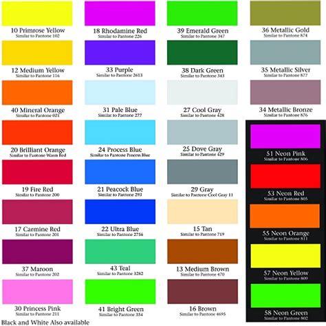neon paint colors http monarchdecals colorchartimage jpg color