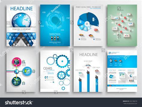 Web Brochure Templates by Set Flyer Design Web Templates Brochure Stock Vector