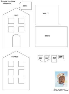 simple gingerbread house template printable kerst on pinterest natal feltro and felt christmas