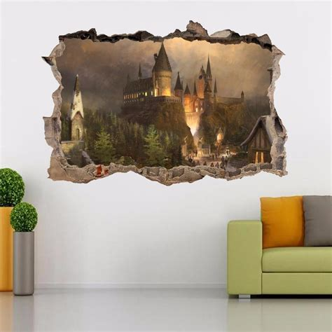 Wall Wandtattoo by Harry Potter Hogwarts Smashed Wall Decal Wall Sticker