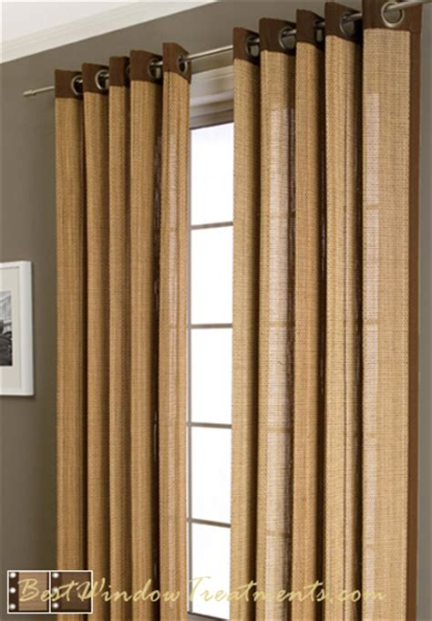 Bamboo Curtains Plait Bamboo Curtain Drapery Panels