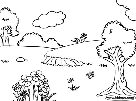 Coloring Pages Nature Only Coloring Pages Nature Coloring Pages For Kindergarten
