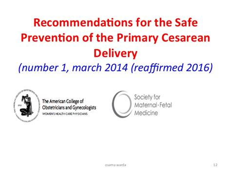 primary cesarean section safe prevention of primary cesarean delivery warda