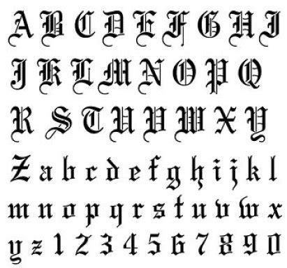 imagenes goticas letras im 225 genes de letras