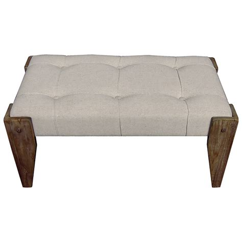 tufted vanity bench charlotte vanity bench tufted wood legs ivory fabric