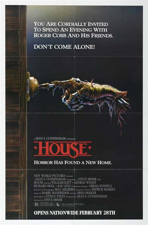 film horror house retro horror movie posters