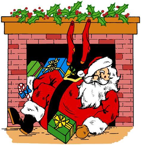 santa chimney clipart 40