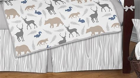 woodland animals baby bedding woodland animals crib bedding set by sweet jojo designs