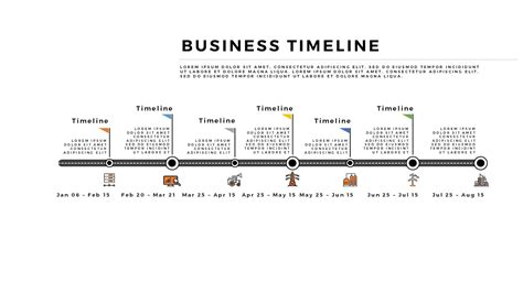 free infographic horizontal business timeline for