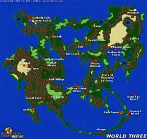 Ff1 World Map by Gallery For Gt Final Fantasy 3 World Map