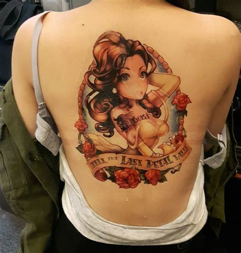 beauty and the beast tattoo ideas and the beast back venice