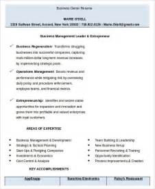 Resume Templates Business Owner Business Resume Templates In Word 13 Free Word Documents Free Premium Templates