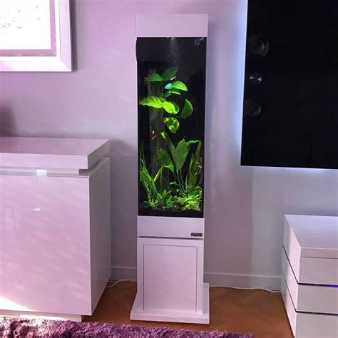 aquarium design sans entretien colonne aquarium alm 233 ria l31xp31xh100 et 40cm de socle