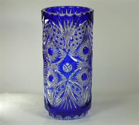 Big Ornamental Vases Large Decorative Vase Quot Icy Quot 38 Cm Blue Cut To Clear