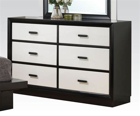 Black Dresser With White Drawers debora black white 6 drawer italian style dresser