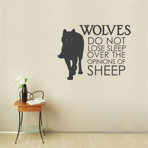 wolf wall stickers wolves do not lose sleep wall quote decal