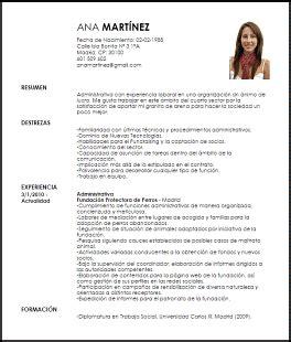 Modelo Curriculum Vitae Word Experiencia modelo de curriculum vitae laboral modelo de curriculum