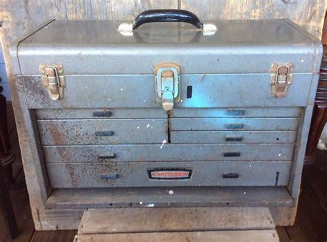 craftsman 7 drawer tool chest vintage craftsman metal machinist tool chest 7 drawers