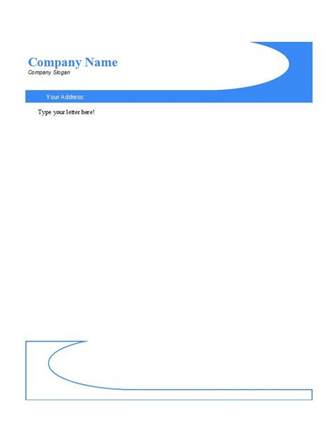 letter heads templates 45 free letterhead templates exles company
