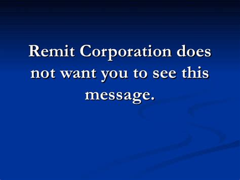 stop remit corporation call