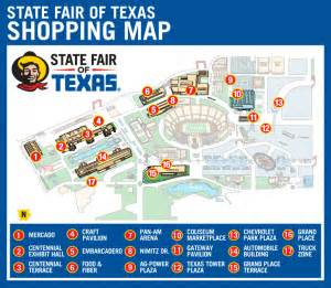 map of state fair of state fair september 26 october 19 2014 dallas