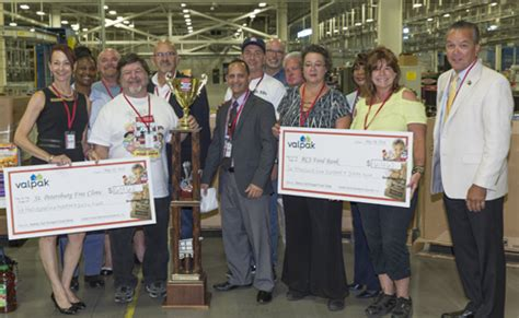 valu pak food st out hunger employee food drive breaks donation record