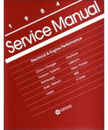service manuals schematics 1984 dodge daytona free book repair manuals 1984 chrysler lebaron new yorker dodge 600 aries charger daytona omni rage plymouth