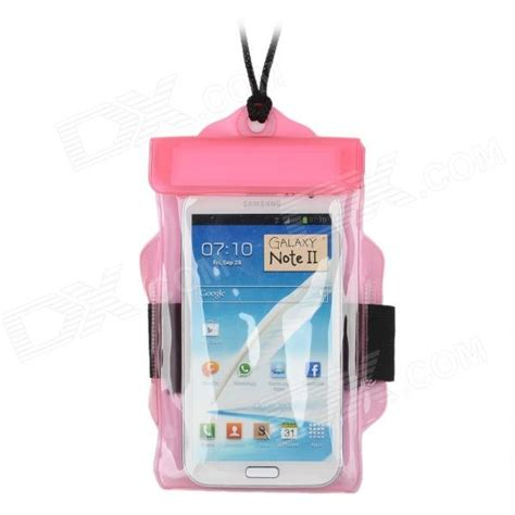 Waterproof Bag With Armband For Smartphone 4 5 Inchi T0210 2 waterproof bag pouch w armband neck for iphone 5 5 quot cell phones pink free