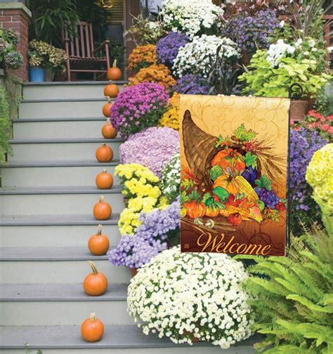 decorative fall garden flags doormats by artist gail