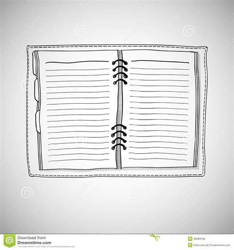 Drawing Notepad by Sketch Of Notebook Stock Vector Illustration Of Empty
