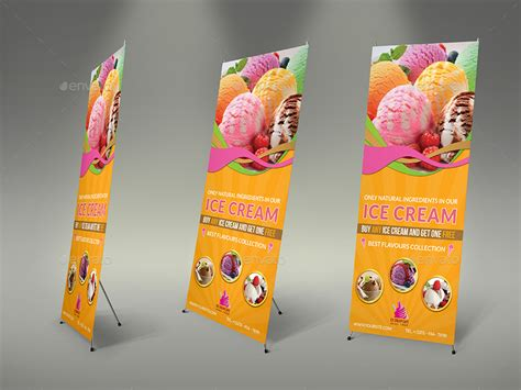 design banner ice cream ice cream advertising bundle vol 5 by owpictures