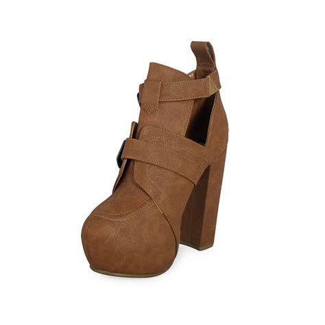 high heel ankle boots with buckles buckle ankle boots parisia fashion
