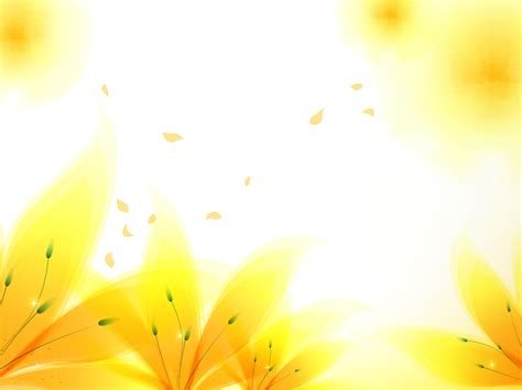 Fresh Yellow Flowers Backgrounds Flowers Yellow Templates Free Ppt Backgrounds And Powerpoint Flower Background