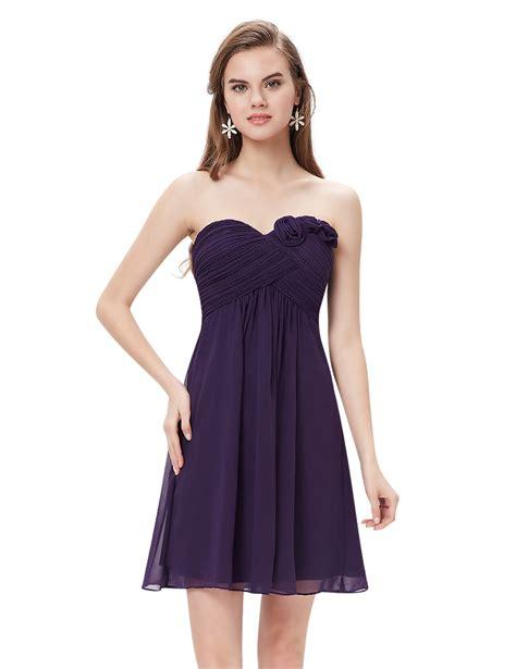 Gaun Dress Blue Flower M Import Original pretty strapless flower ruffles padded chiffon bridesmaid dress 03543 ebay