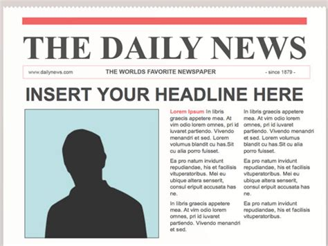newspaper template free editable powerpoint newspapers