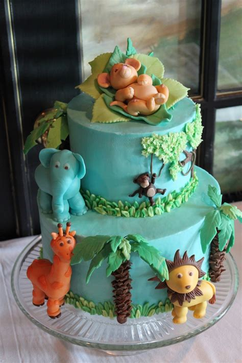 Jungle Baby Shower Cake by Jungle Baby Shower Cakecentral
